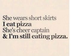 hahahaha, can't you seeeeee.... I'm still eating pizza. Hahahha