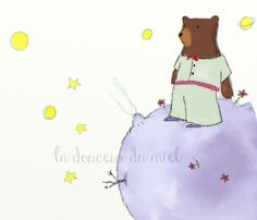 """""""The little bear"""" - a tribute to the great writer Antoine de Saint-Exupéry, The little prince, illustration, book, kids, imagination"""