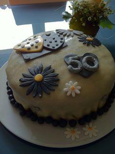 Goldhochzeit Torte für die Großeltern
