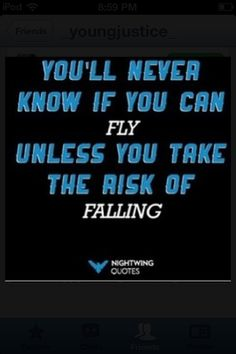 Nightwing quote.