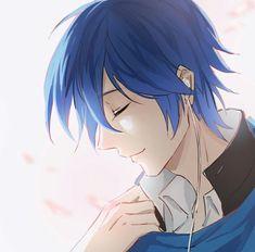 Cute Anime Boy, Hot Anime Guys, Anime Boys, Kaito Shion, Vocaloid Kaito, Anime Guy Blue Hair, Chihuahua, Kaai Yuki, Anime Guys Shirtless
