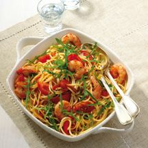 Weight Watchers - Spaghetti met scampi's en rucola - 9pt