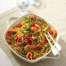 Spaghetti met scampi's en rucola WW
