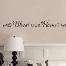 Bless our Home with Love Laughter Wall Quote $23.00 www.decalmywall.com