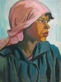Maggie Laubser this shows an expression of wait, or a pause to think about life Simple Art, Easy Art, Contemporary History, South African Artists, Portrait Paintings, Art Paintings, Black Art, Figurative Art, Cool Art