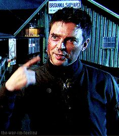 Almost Human   Tumblr - BTS of Karl Urban. Can he be any more adorable?