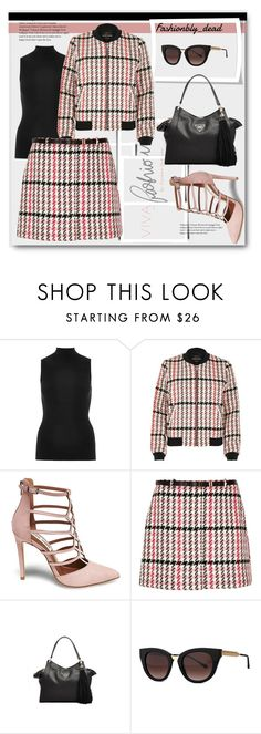 """""""checked"""" by qroxp ❤ liked on Polyvore featuring Hermès, River Island, Steve Madden, GUESS and Thierry Lasry"""