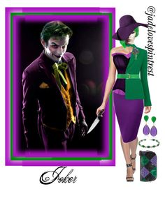 """""""Joker Style"""" by jadelovespintrest ❤ liked on Polyvore featuring Oscar de la Renta, Karl Lagerfeld, Eric Javits, Ross-Simons, Bling Jewelry and Zwilling J.A. Henckels"""