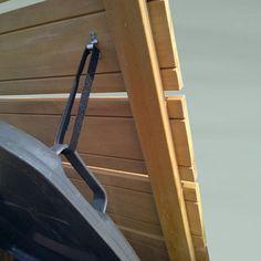 de Buitenboel*: Kliko berging trio met deksels, (h)115 x (b)220 x (d)84 cm, FSC hardhout