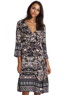 Odd Molly Kjole sort mønstret 117M-134 Odyssey Dress - dark multi – Acorns