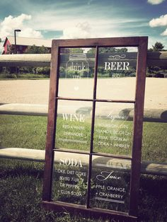Bar Menu Window Sign by IDoSignDesigns on Etsy, $95.00