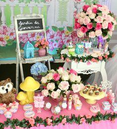 Olha que amor esta Festa Jardim! Decoração Arte Festas Decorações por Édria Guimarães Lindas ideias e muita inspiração! Bjs, Fabiola Teles...