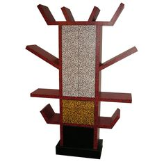 1984 Italian Bookcase by Ettore Sottsass - a little crazy on the finish but the design- i love this furniture maker- he is extraordinary!!!