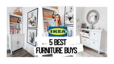 IKEA 5 BEST FURNITURE BUYS Bathroom Mirror Cabinet, Glass Cabinet Doors, Cabinet Drawers, Ikea Furniture, Cool Furniture, Ikea Hemnes Shoe Cabinet, Ikea Units, Wardrobe Systems