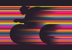 'Olympics Cyclist' wallpaper by Mel Smith, available from wallpaper.com