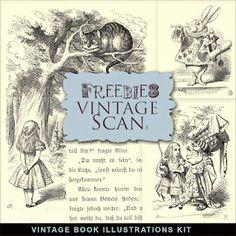 Vintage Book Illustrations Kit