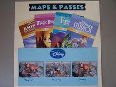 Pocket Folder, disney scrapbook layout. Could be changed to work for any vacation.