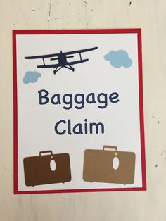 Baggage claim sign vintage airplane party by handmadebyvee on etsy. Vintage Airplane Party, Vintage Airplanes, Airplane Baby Shower, Boy Party Favors, Baby Boy Cards, Baggage Claim, Baby Boy Birthday, Boy Baby Shower Themes, Baby Boy Blankets