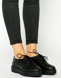 Agrandir ASOS - MIRA - Chaussures à lacets style creepers