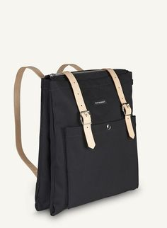 Always On The Go. Meander on two wheels or two feet wearing the smart Eppu backpack. It's comprised of two cavities divided by a handy pocket, topped with a zip closure. The heavyweight canvas and reinforced interior seams make Eppu durable, and the two a