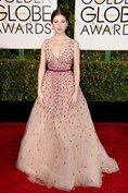 Golden Globes 2015 Anna Kendrick in Monique Lhuillier
