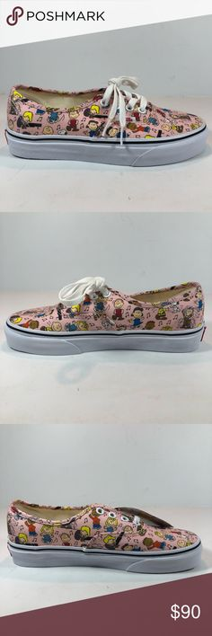 dd3fae88743b Vans Peanuts Authentic Dance Party Pink Shoes New With Damaged Box See  Pictures For Details. Vans Peanuts Authentic Dance Party Pink   Multicolor  Sneakers ...