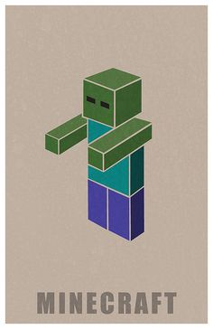 Minecraft Zombie by Kurataki, via Flickr