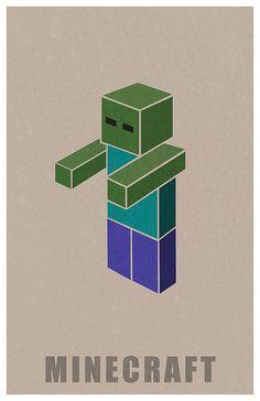 Minecraft Zombie by Kurataki, via Flickr