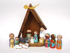 Natividad de los niños conjunto de niños por UnderAngelWings