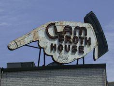 Clam Broth House - 1940's neon sign - Hoboken NJ