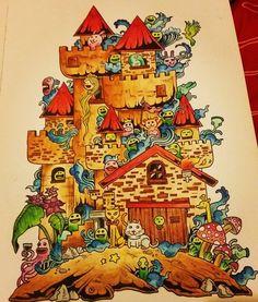 «Bazgrołki  #kolorowanie #doodleinvasion #doodle #doodleinvasioncoloringbook #inwazjabazgrolow #kerbyrosanes #colouring #coloring #coloringbook…»
