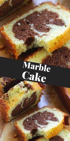 Marble Cake Recipes, Dessert Recipes, Sweet Desserts, Delicious Desserts, Best Butter Cake Recipe, Best Sweets, Ice Cream Recipes, Chocolate Flavors, Dessert Bars