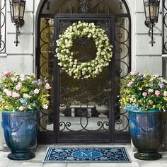 Front of house - Anduze Indoor/Outdoor Planter Indoor Outdoor, Outdoor Planters, Outdoor Decor, Planters For Front Porch, Outdoor Entryway Ideas, Cheap Planters, Outdoor Living, Rustic Planters, Tall Planters