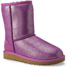 UGG® Australia Girls Youth Classic Glitter Boots #VonMaur