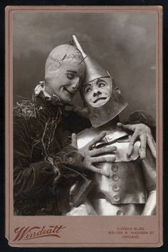 Montgomery and Stone as the Tin Man and Scarecrow in Wizard of Oz., Digital ID TH-37687, New York Public Library (see link to script at bottom of post.  Story is nearly unrecognizable).