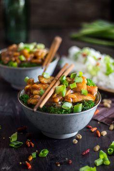 Miodowy kurczak z brokułami (w 15 minut)