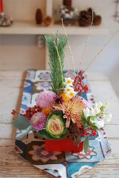 Japanese New Year Flower Arrangement.