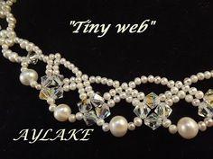 "How to do necklace ""Tiny web"" - tutorial - YouTube"