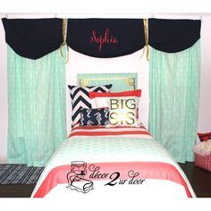 Design Your Own Window Valance | Custom Designer Teen Girl & Dorm Room Bedding & Decor