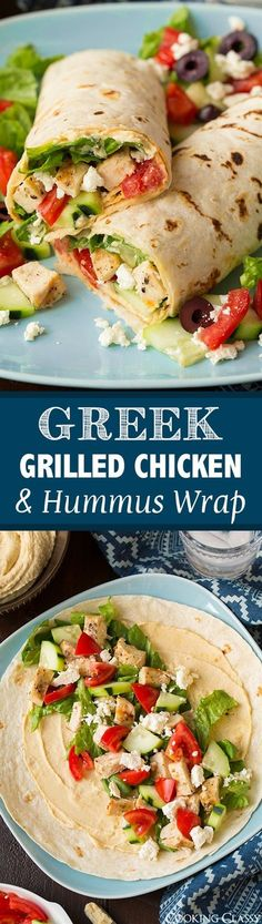 Greek Grilled Chicken And Hummus Wrap