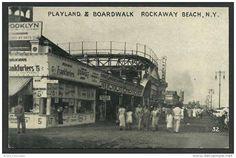 "Playland & Boardwalk Rockaway Beach NY Manhattan Card Pub Co 32 "" Rockaway Park, Rockaway Beach, Queens New York, Staten Island, Slums, Amusement Parks, Long Island, Old Pictures, Family History"
