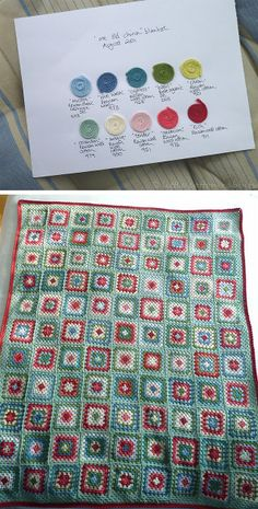 Color Inspiration :: 'Me Old China' granny square blanket, by littlecottonrabbits (bunnyknitter on Ravelry). She ended up not using the 'Citron'* ༺✿ƬⱤღ✿༻