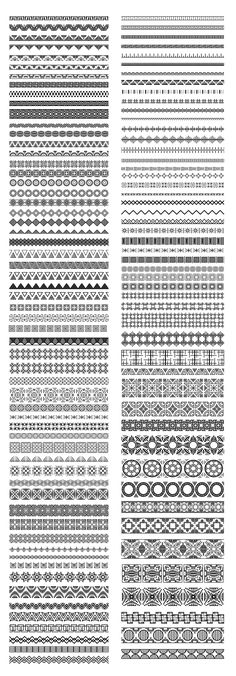 110 Ethnic Pattern Brushes by Elinorka on Easy Doodle Art, Doodle Art Designs, Doodle Art Drawing, Zentangle Drawings, Doodle Patterns, Zentangle Patterns, Art Drawings Sketches, Easy Patterns To Draw, Easy Mandala Drawing