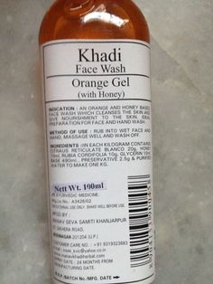 #Khadi #Orange #Gel with #Honey #Face #Wash #review #price and details on the blog