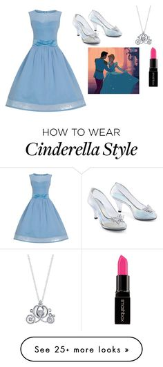 """""""Cinderella"""" by khanke on Polyvore featuring Disney and Smashbox"""