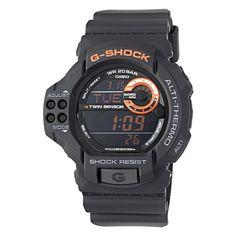 Reviews Casio Men's GDF100-1B G-Shock Twin Sensor Multi-Functional Black Resin Digital Sport Watch