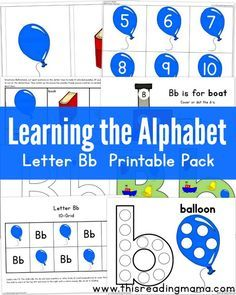 Learning the Alphabet: Letter B Printable Pack ~ hands on alphabet learning activities {FREE} | This Reading Mama