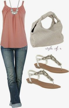 cute top and sandals