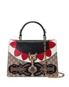 f80c955fec1 Gucci Broche GG Supreme Top-Handle Bag