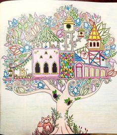 Floresta Encantada TreehousesJohanna BasfordColoring Books ColorGardenPaintingDrawings